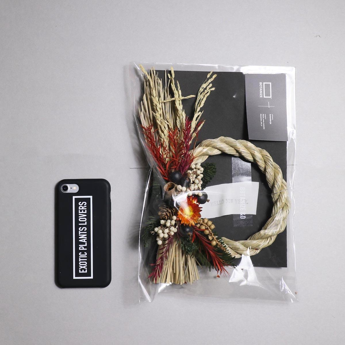 BOTANIZE&D / SHIMENAWA wreathe -S- (typeA) サイズ感 (iphone7との比較)