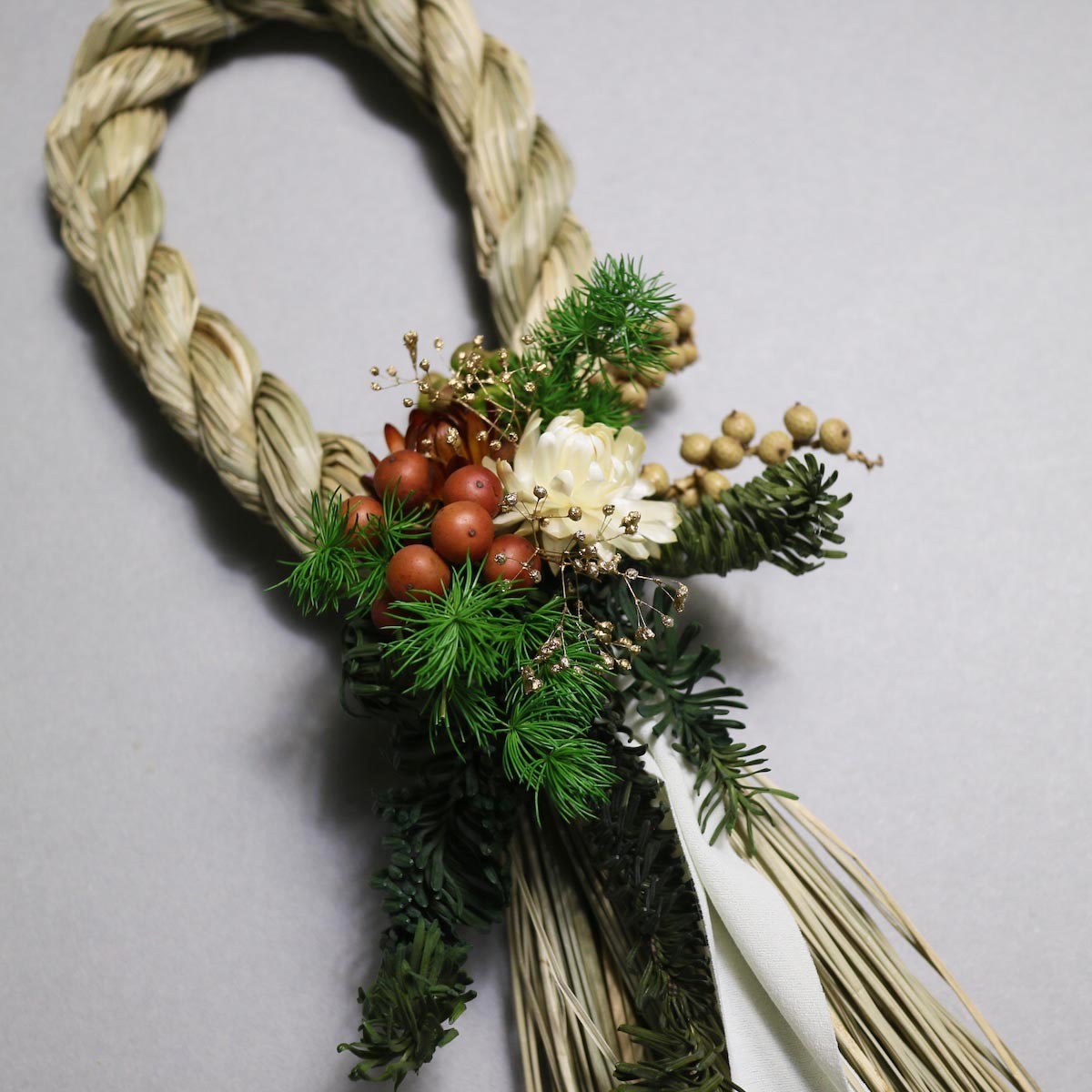 BOTANIZE&D / SHIMENAWA wreathe SLIM (typeA)ドライフラワー