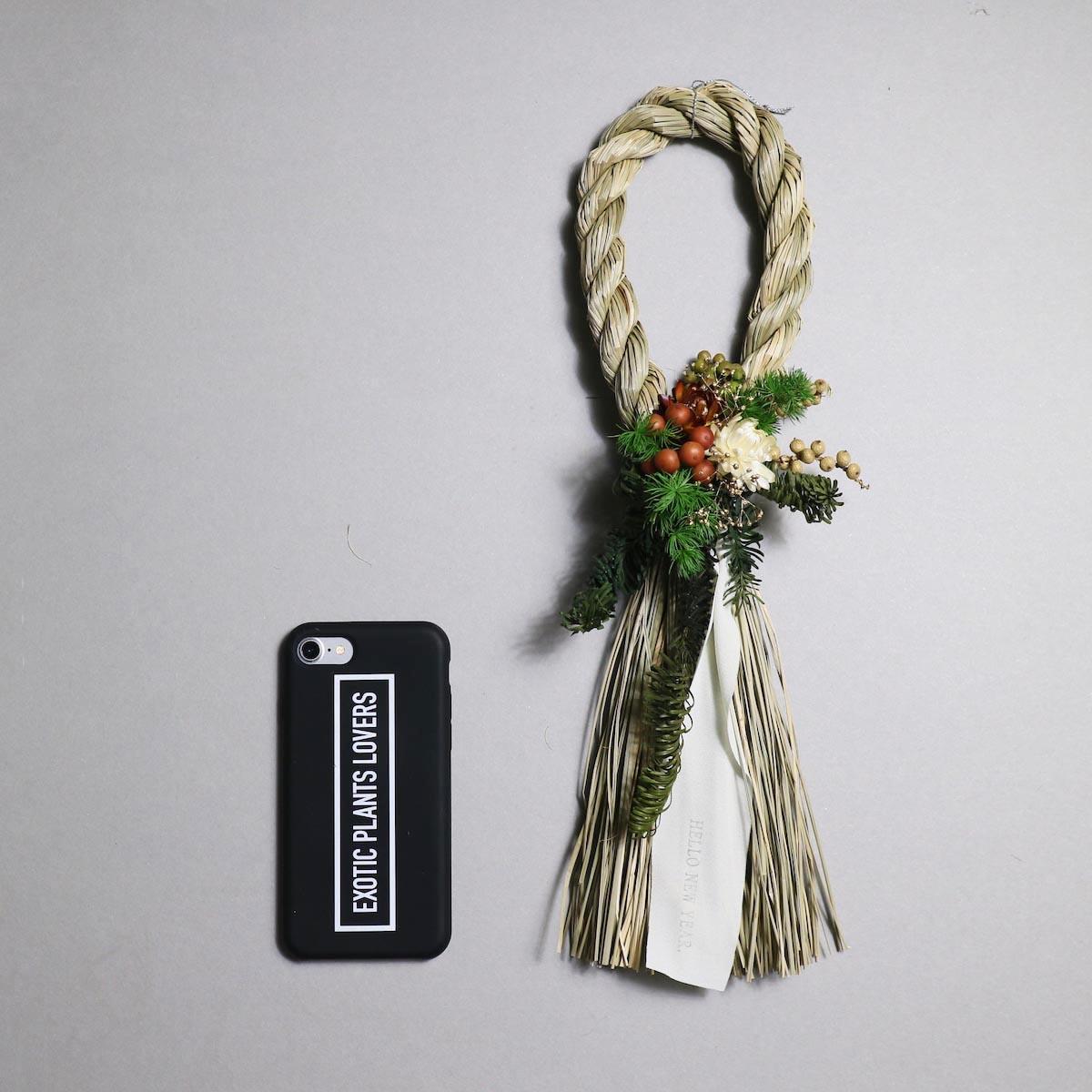 BOTANIZE&D / SHIMENAWA wreathe SLIM (typeA)サイズ感 (iphone7との比較)