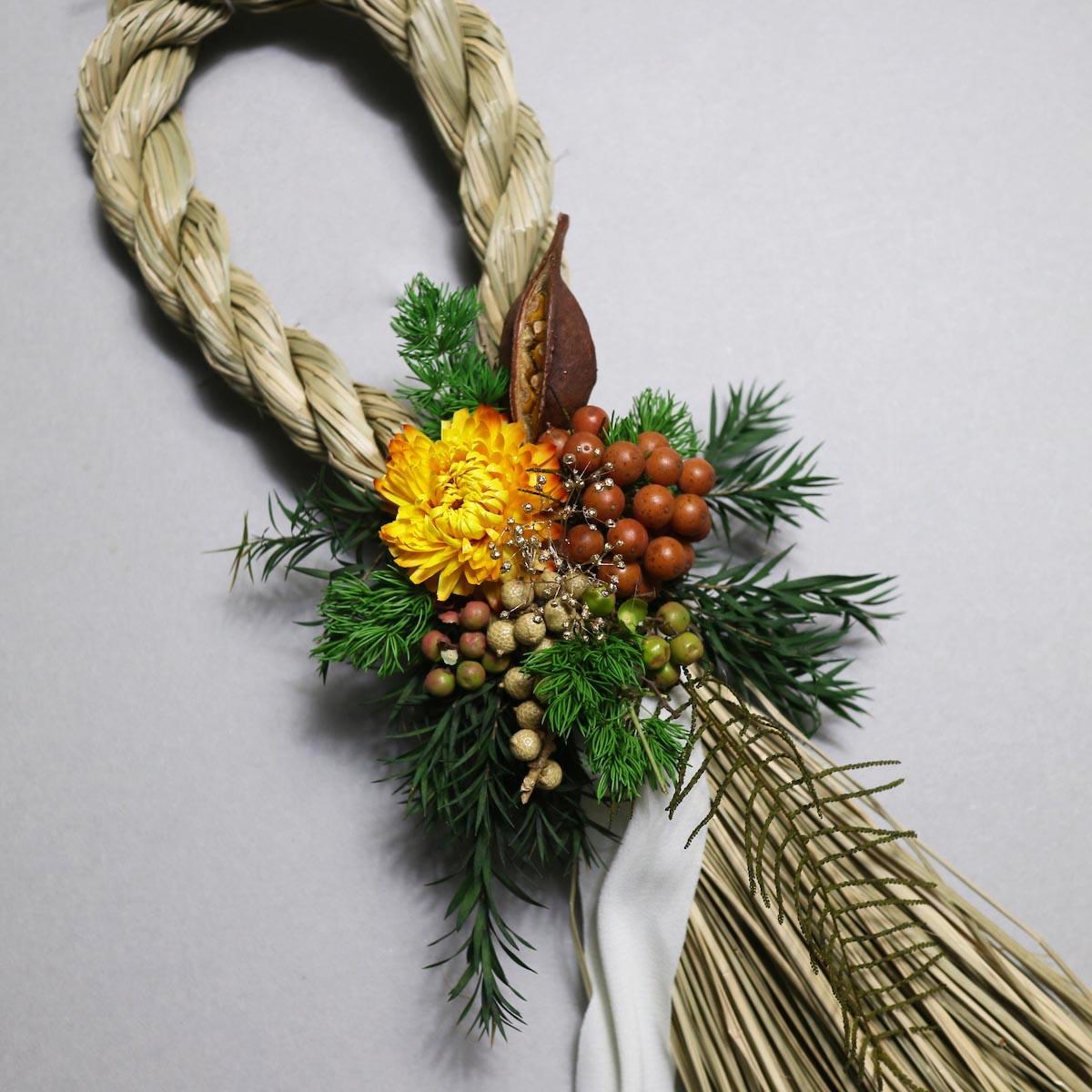 BOTANIZE&D / SHIMENAWA wreathe SLIM (typeB) ドライフラワー