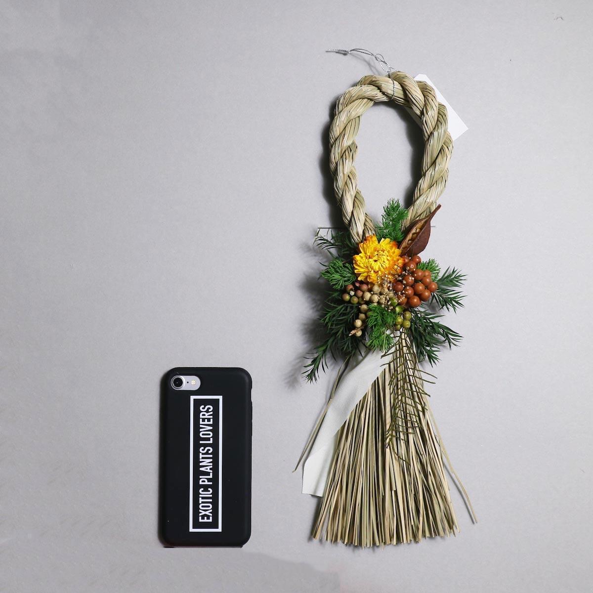 BOTANIZE&D / SHIMENAWA wreathe SLIM (typeB)サイズ感 (iphone7との比較)