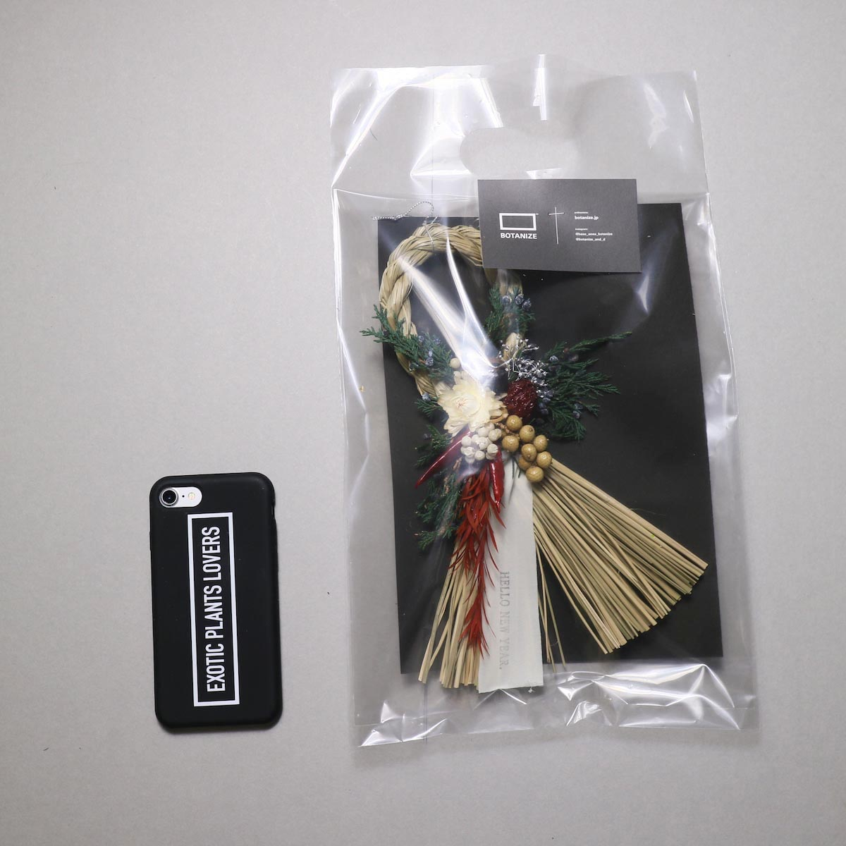 BOTANIZE&D / SHIMENAWA wreathe SLIM -S- (typeA)ドライフラワー
