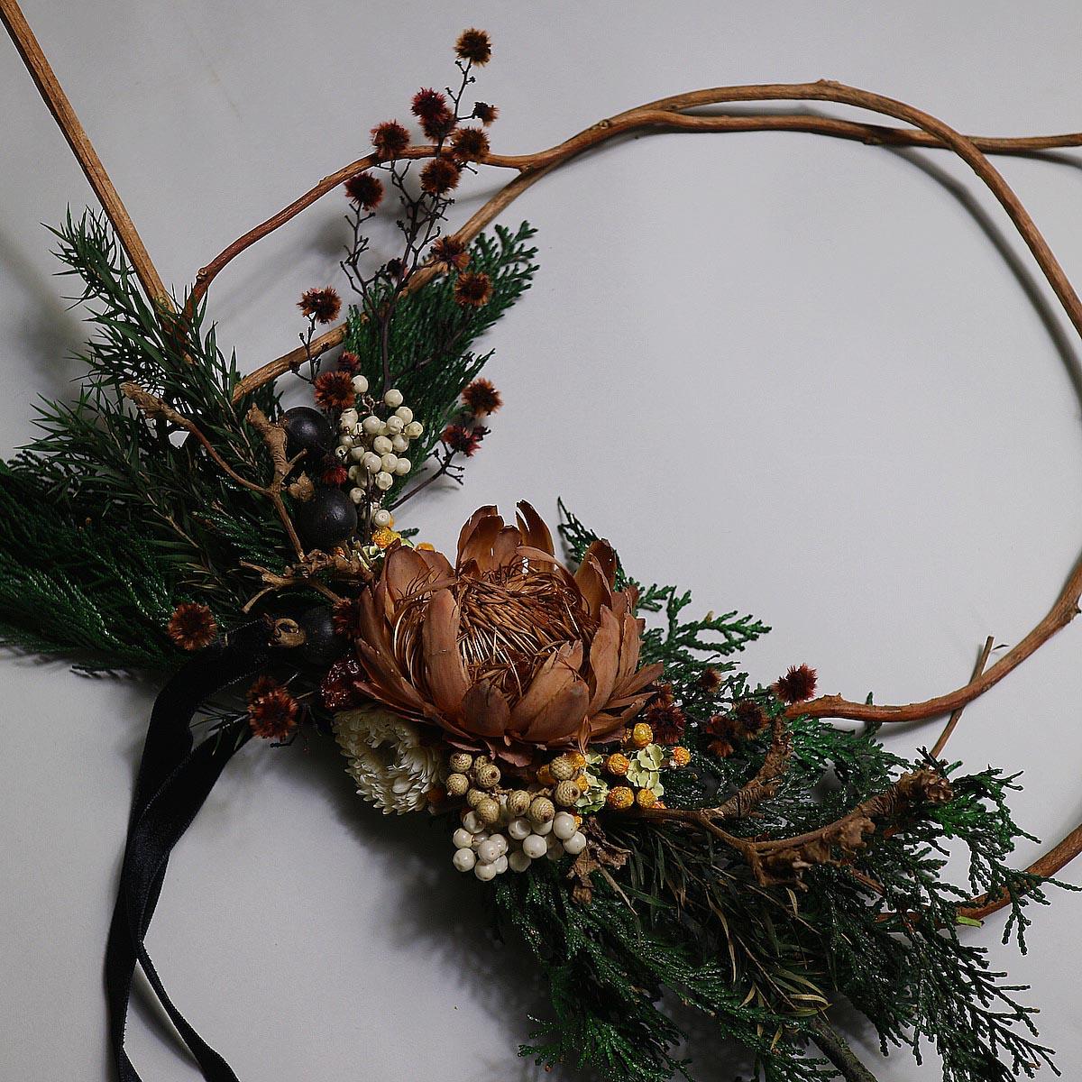 BOTANIZE&D / Christmas wreathe (Btype) アップ