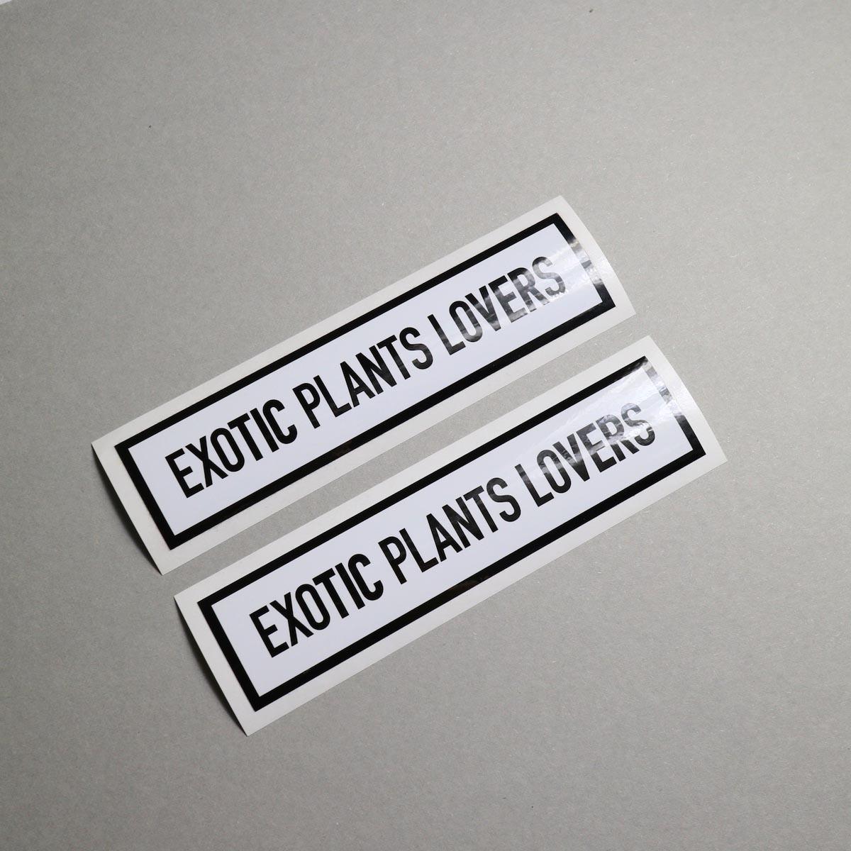 "BOTANIZE / ""EXOTIC PLANTS LOVER"" Sticker (Ver.2)"