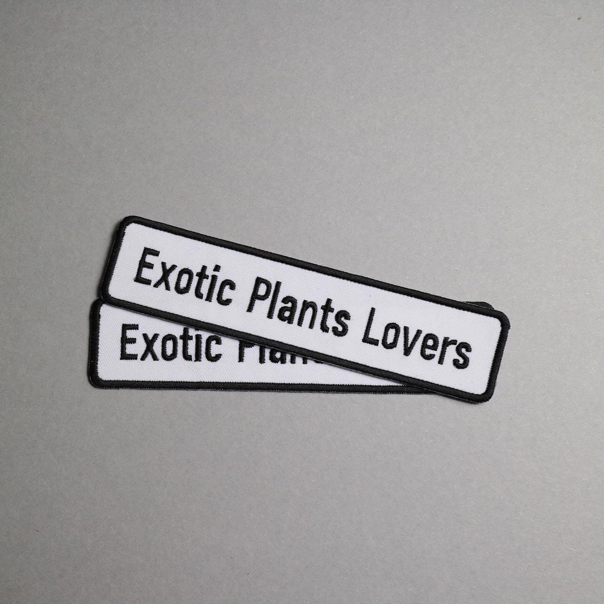 """BOTANIZE / """"EXOTIC PLANTS LOVER"""" Wappen (Ver.1)"""