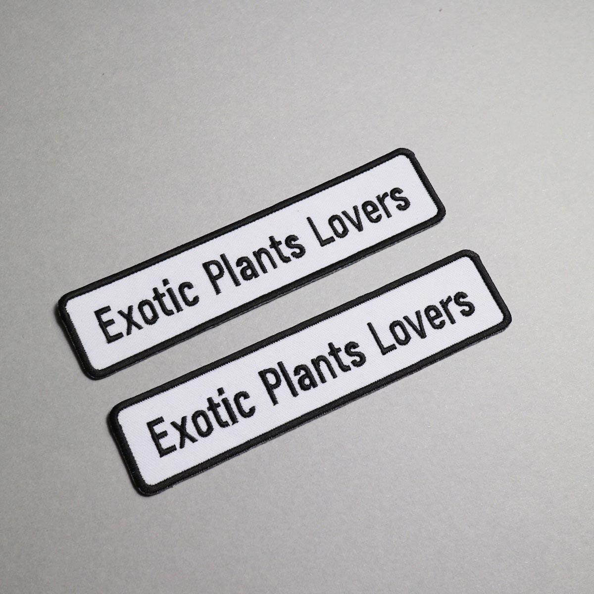"""BOTANIZE / """"EXOTIC PLANTS LOVER"""" Wappen (Ver.2)"""