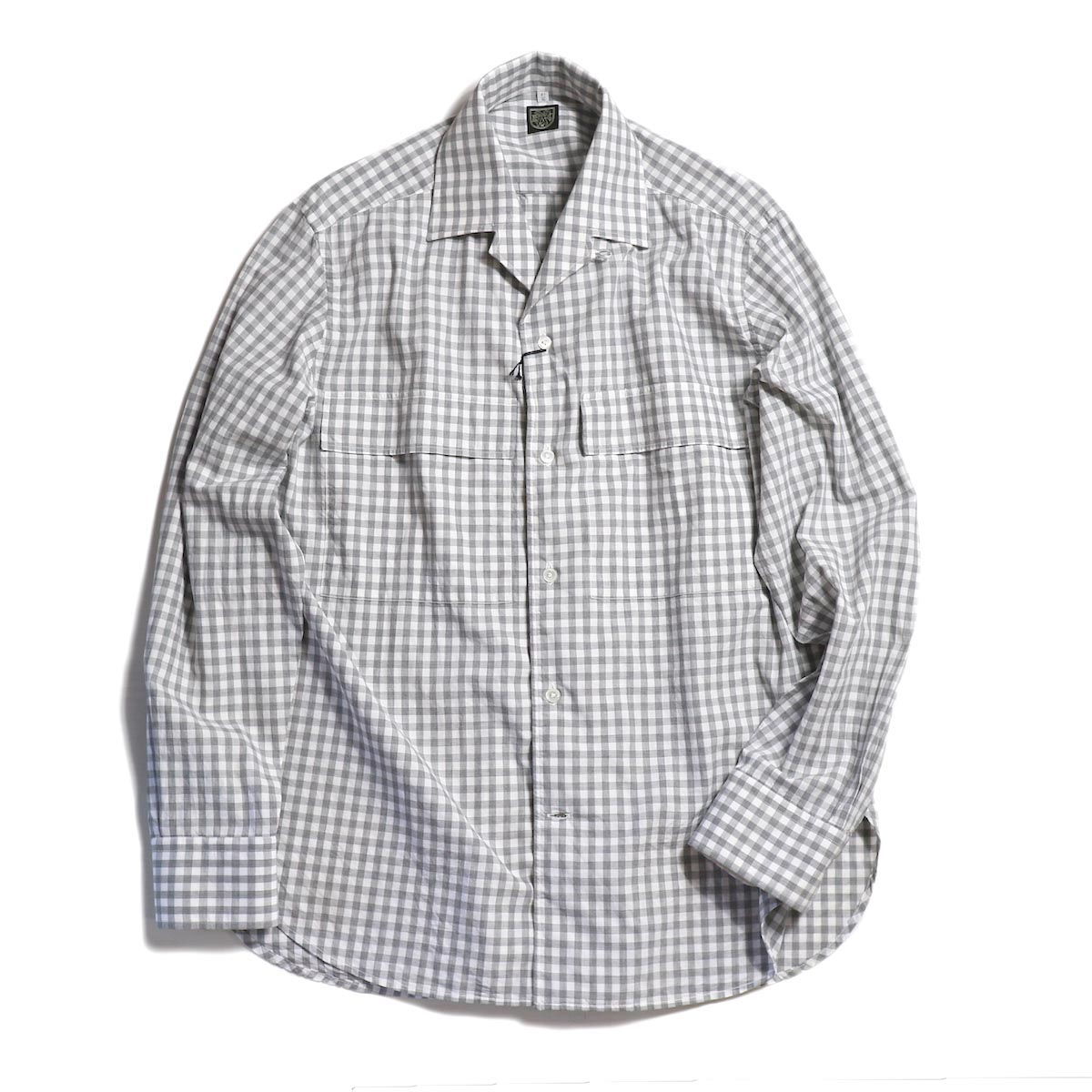 "BRENA / ""WESTER"" NAPOLI-02 GINGHAM CHECK -Gray"