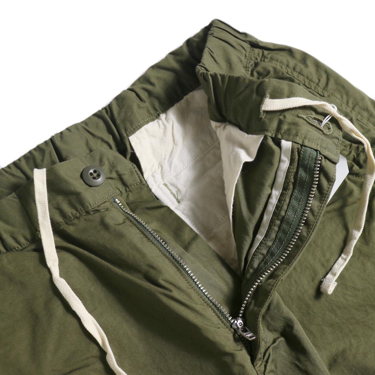 BRENA / Cotton&Linen Washer Kersey Coq Pants (Amg)ジップフライ