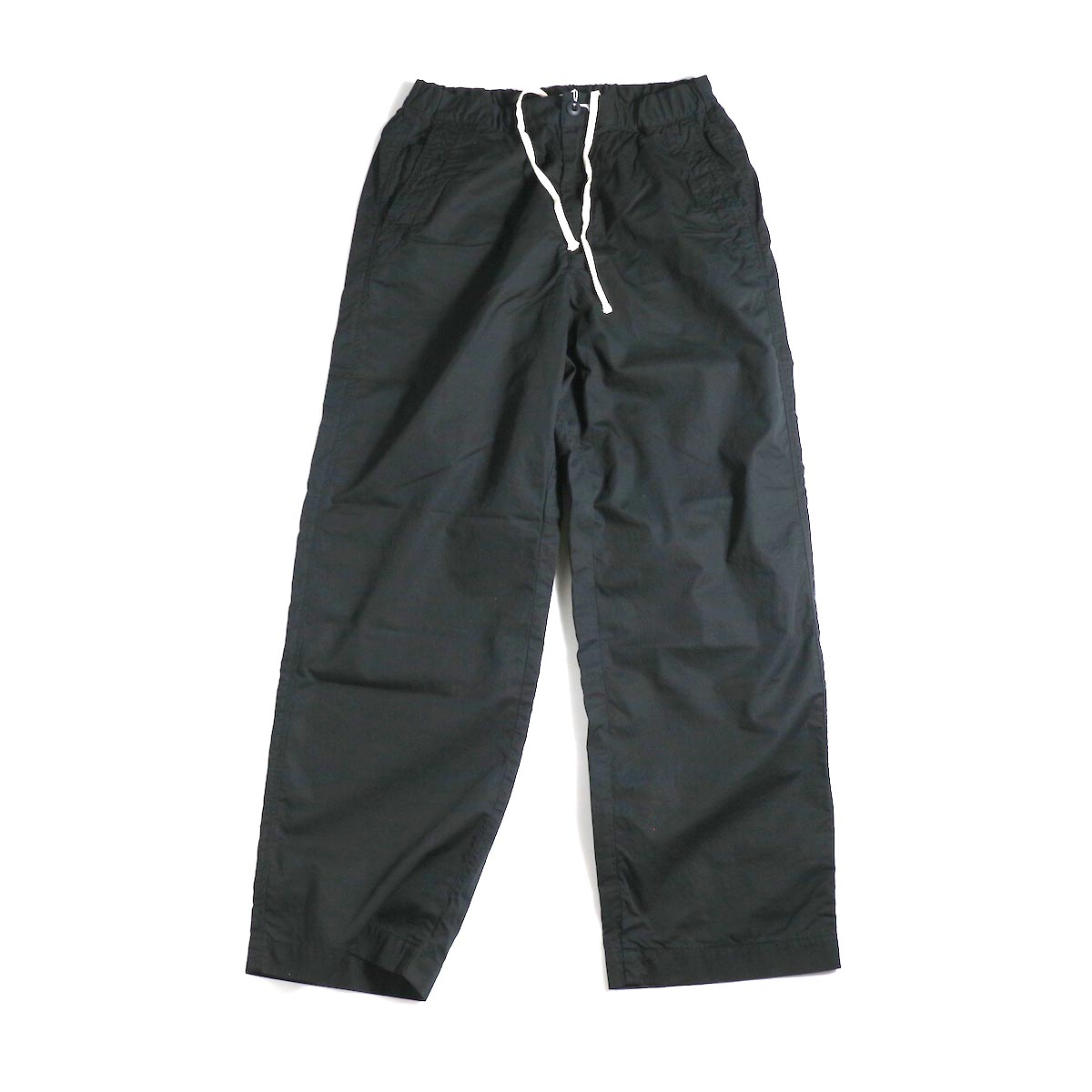 BRENA / Cotton&Linen Washer Kersey Coq Pants (Black)