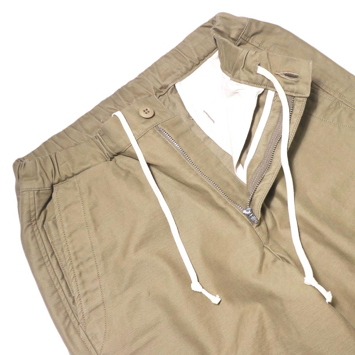 BRENA / Coq Pants (beige) ウエスト・ドローコード