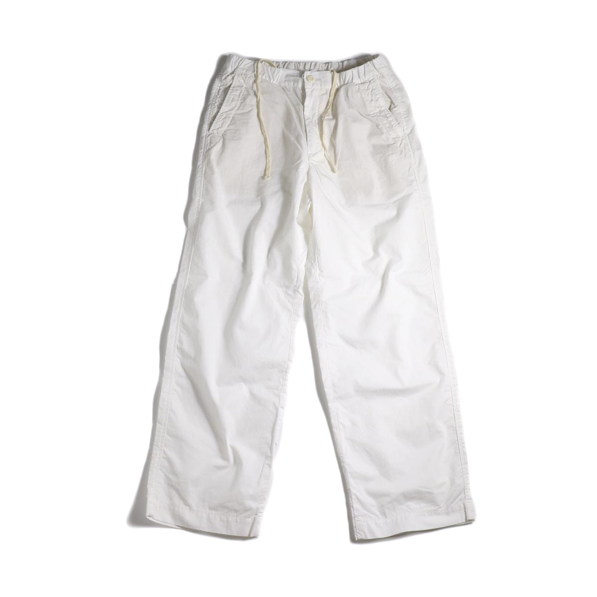 BRENA / Cotton&Linen Washer Kersey Coq Pants (White)