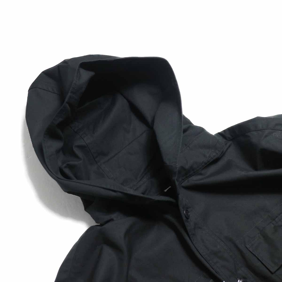 BRENA / Hood Work Shirt -Black フード