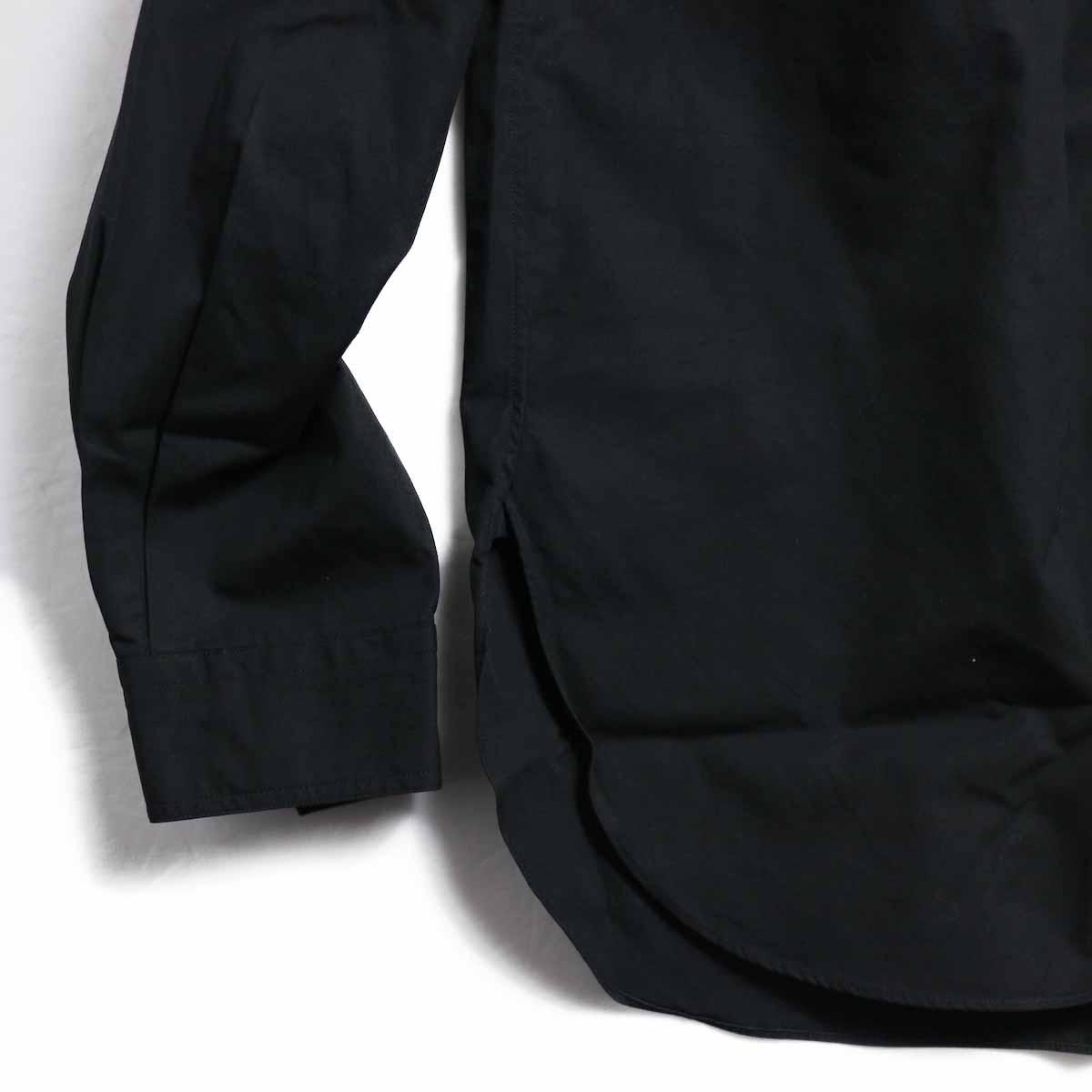 BRENA / Hood Work Shirt -Black 裾