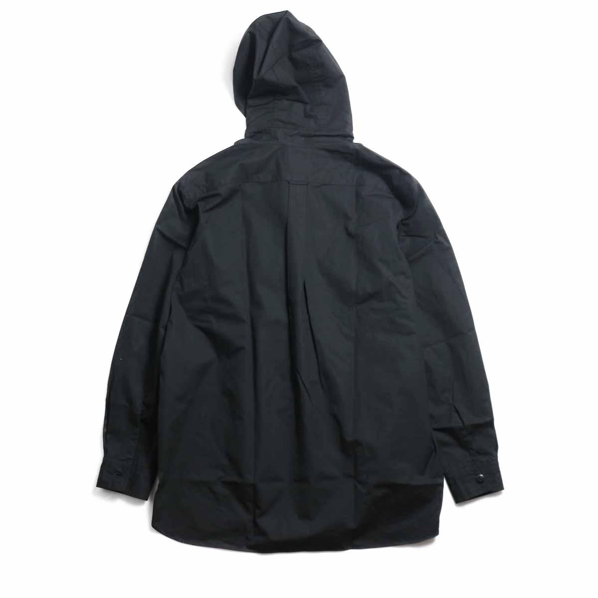 BRENA / Hood Work Shirt -Black 背面