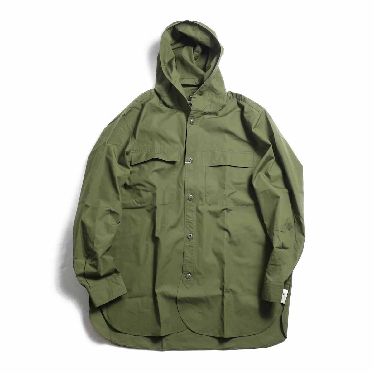 BRENA / Hood Work Shirt -Dk Olive