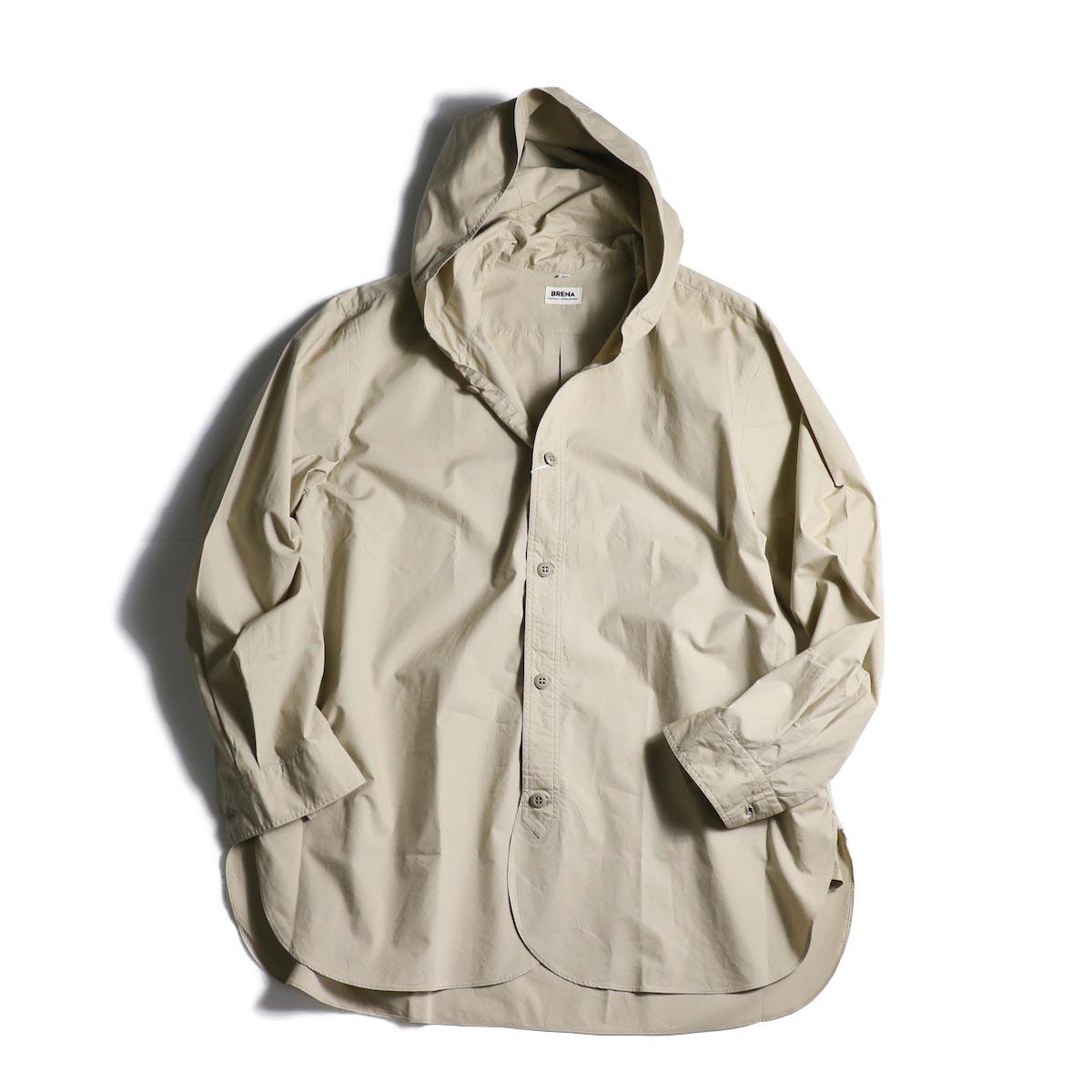 BRENA / Hood Work Shirt (Sand)