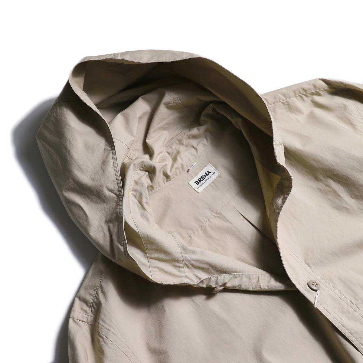 BRENA / Hood Work Shirt (Sand)フード