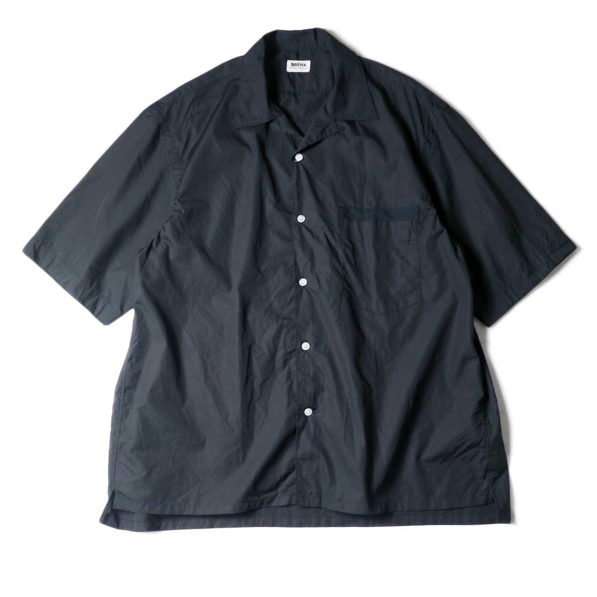 BRENA / OC-SS (Open Collar Shirt) Black