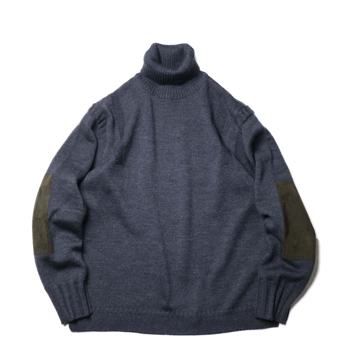 "BRENA / ""PECHEUR"" Turtle Neck Sweater (Chacoal)"