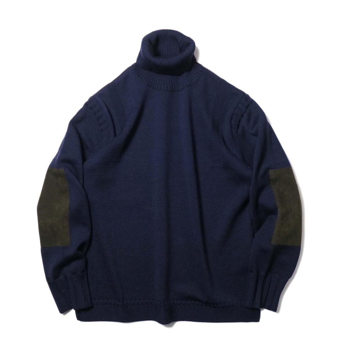 """BRENA / """"PECHEUR"""" Turtle Neck Sweater (DarkNavy)"""