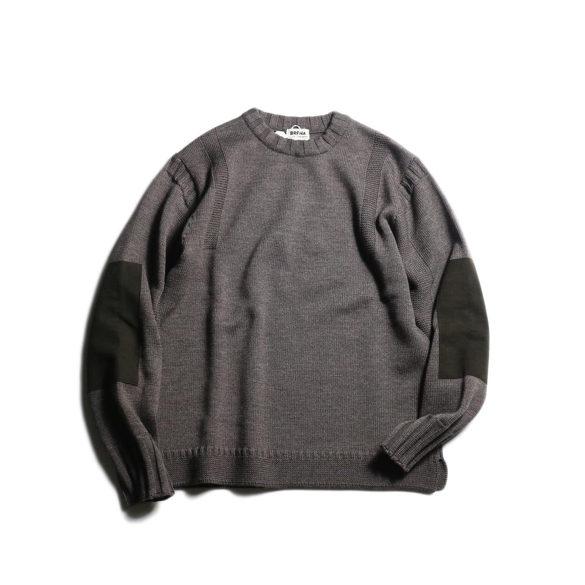 """BRENA / """"PECHEUR"""" Crew Neck Sweater (Brown)"""
