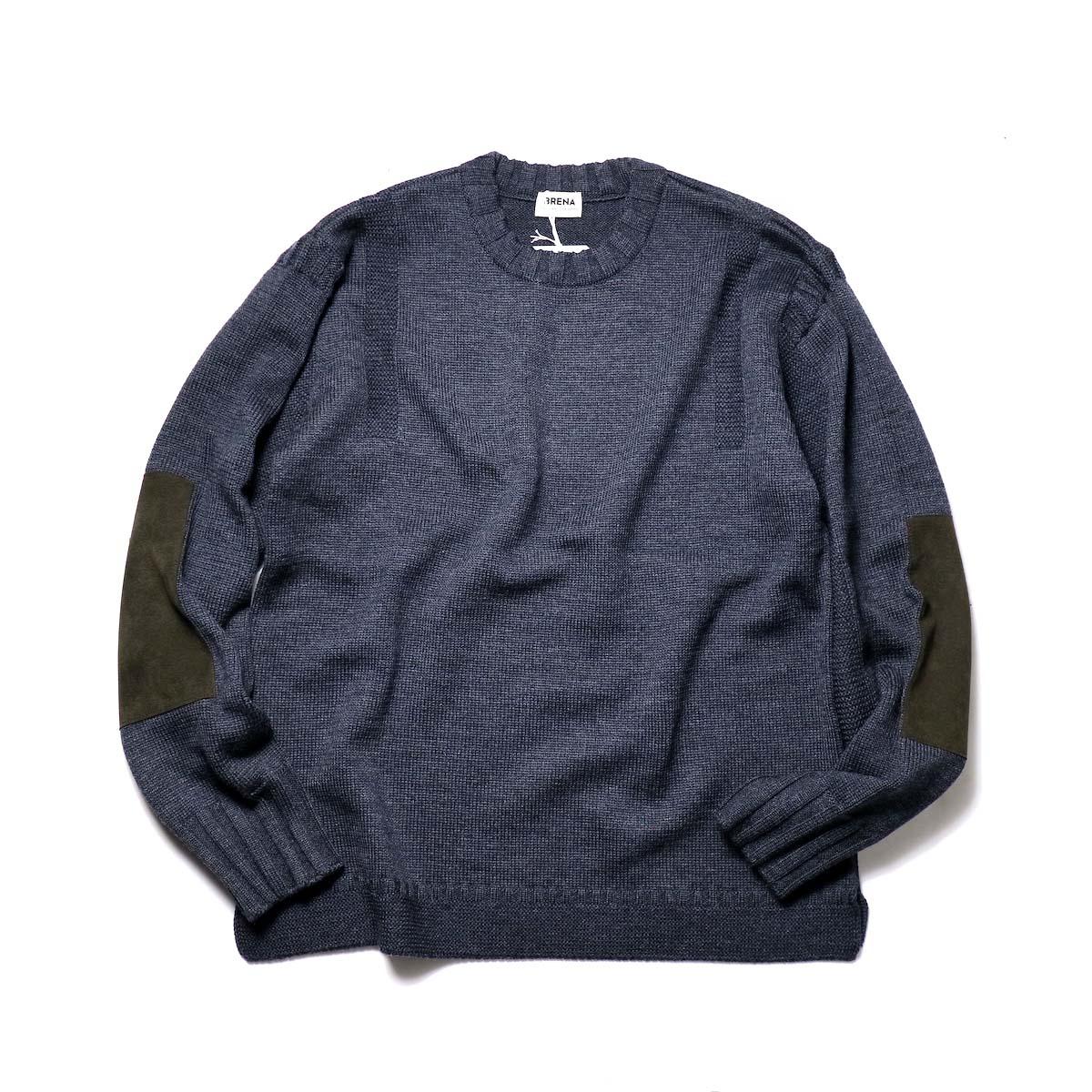 "BRENA / ""PECHEUR"" Crew Neck Sweater (Chacoal)"
