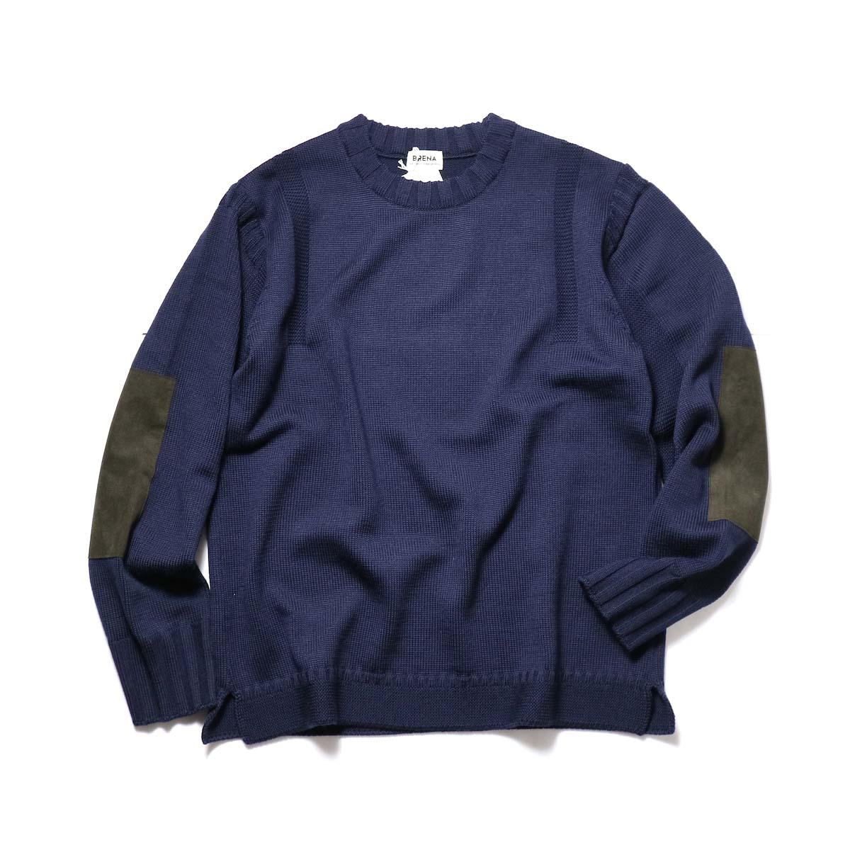 """BRENA / """"PECHEUR"""" Crew Neck Sweater (DarkNavy)"""