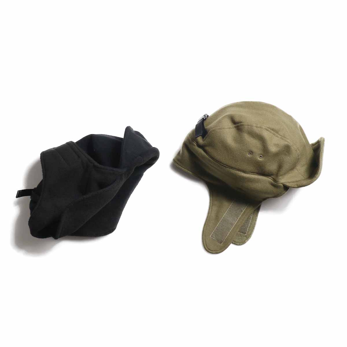 COMES AND GOES / Army Ear Cap -BLACK