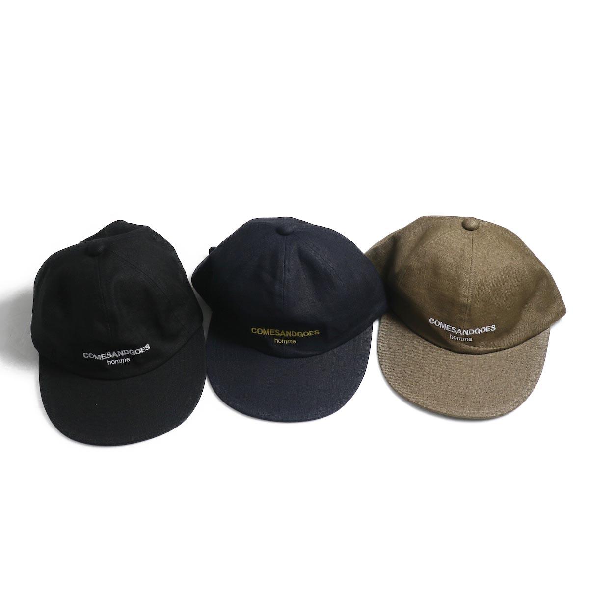 COMESANDGOES / COMES Homme Linen Cap (NO.14518)