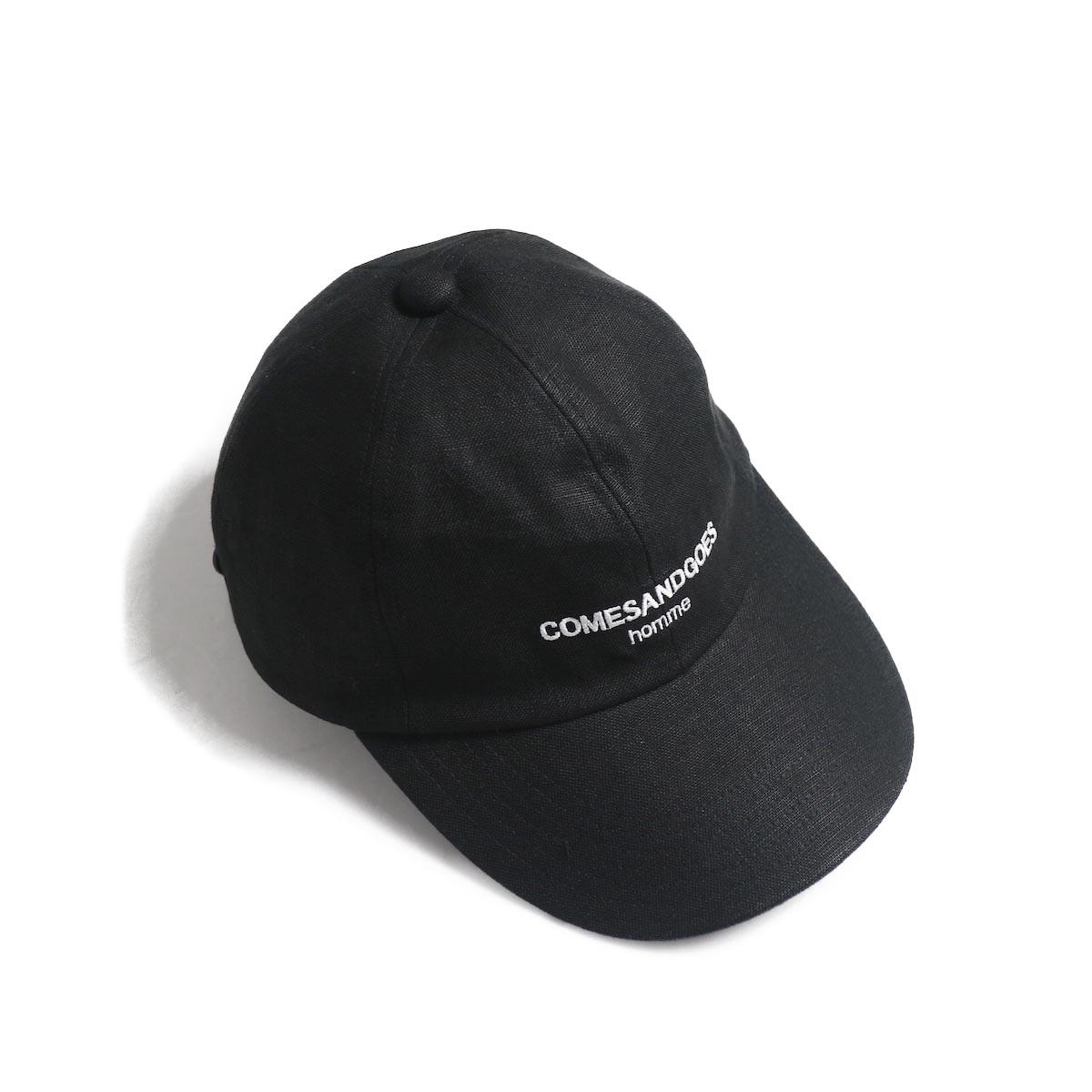 COMESANDGOES / COMES Homme Linen Cap (NO.14518) black