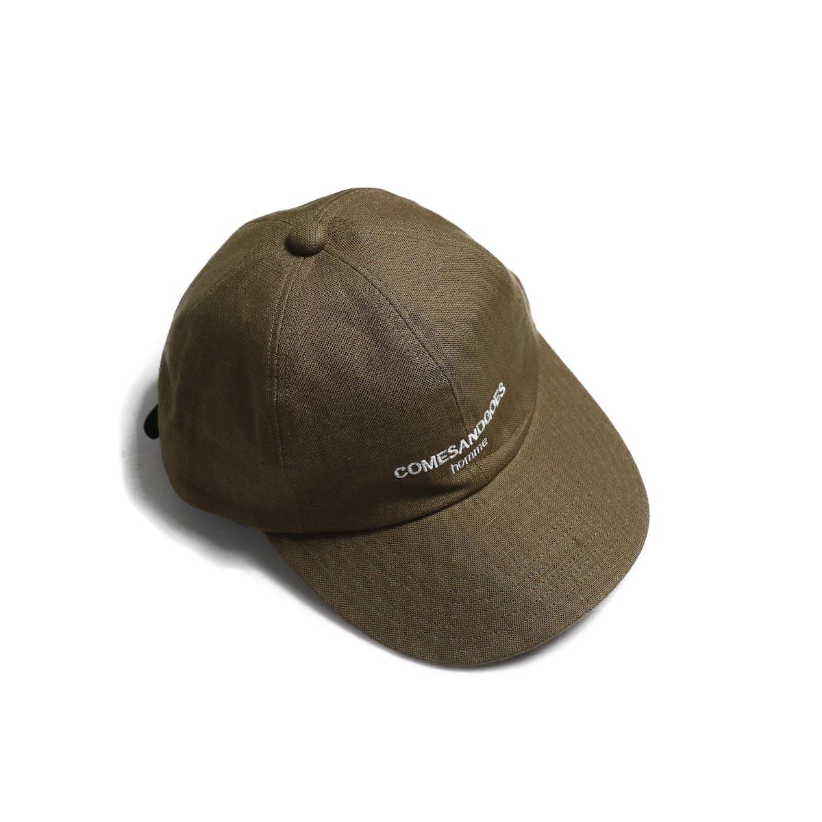 COMESANDGOES / COMES Homme Linen Cap (NO.14518) Beige
