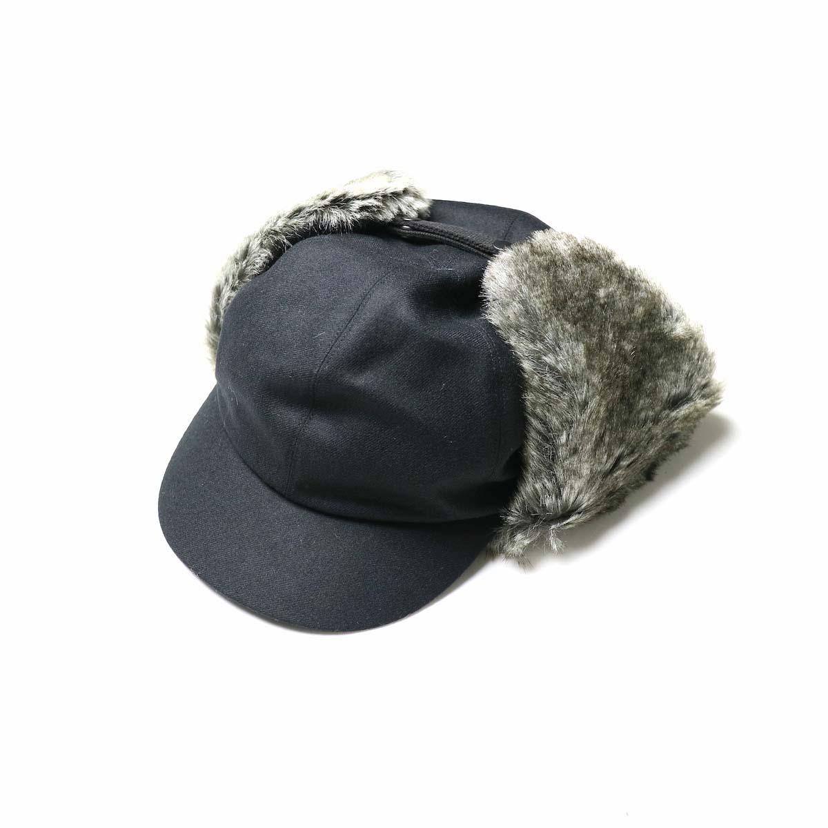 COMESANDGOES / Flannel Wool Fur Ear Cap (No.17644)