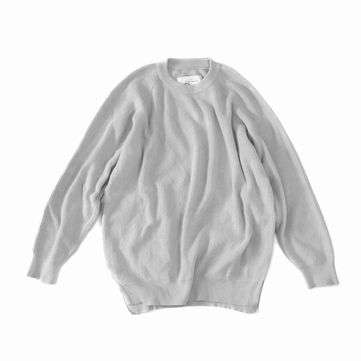 CURLY / ASSEMBLY CREW KNIT -LT.GRAY