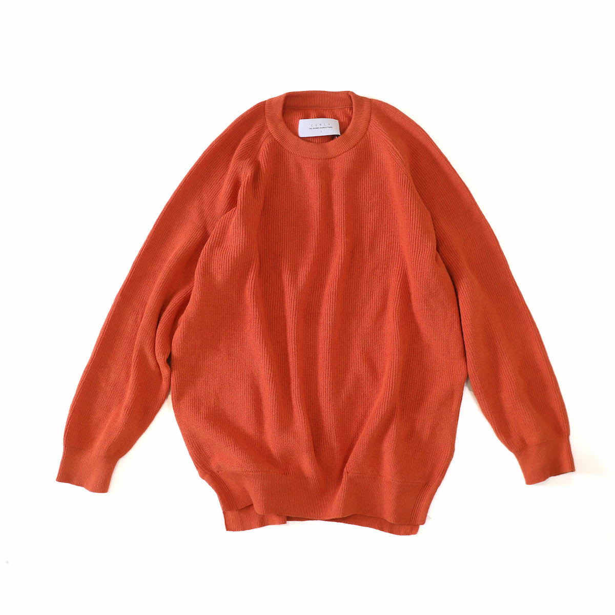 CURLY / ASSEMBLY CREW KNIT -ORANGE