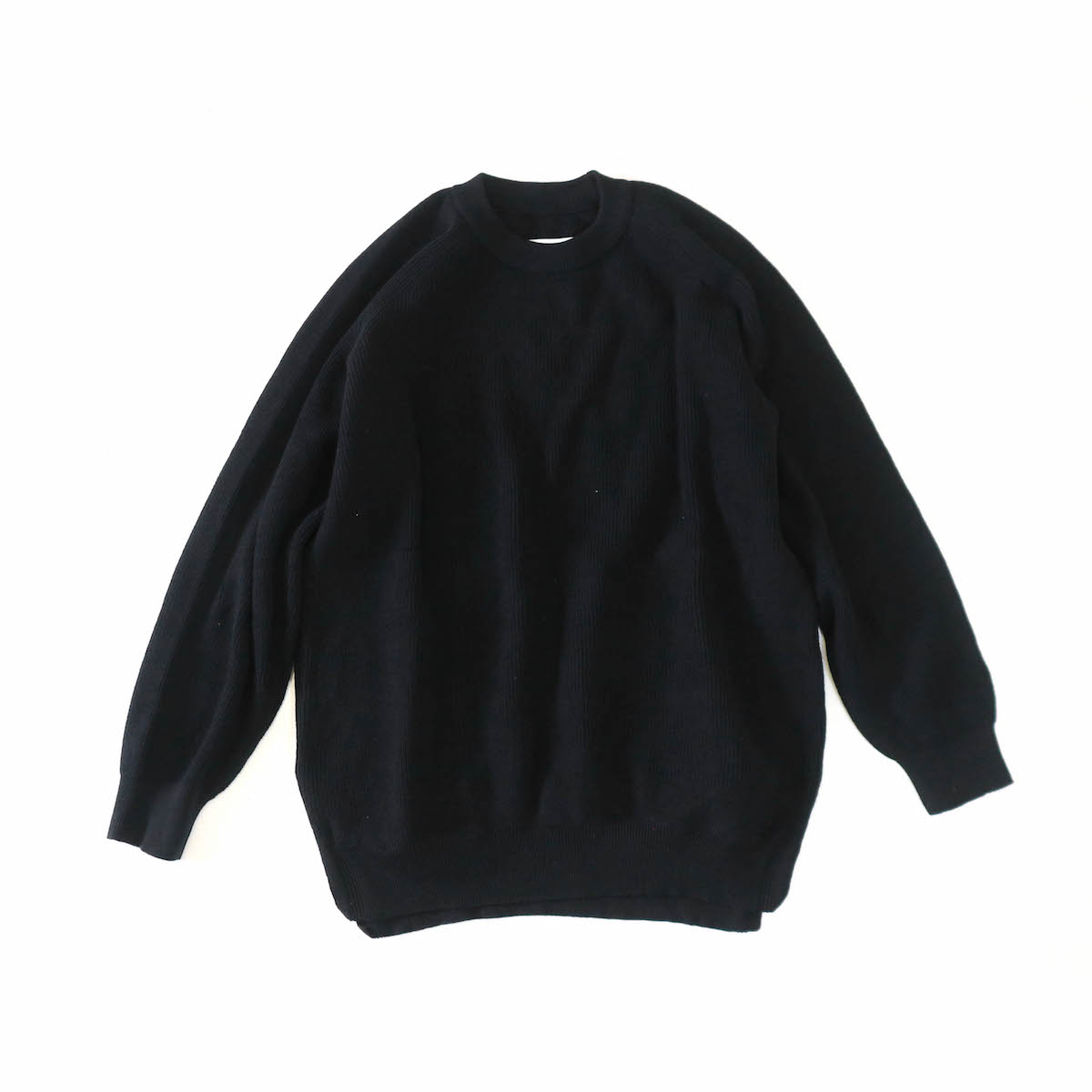 CURLY / ASSEMBLY CREW KNIT -BLACK
