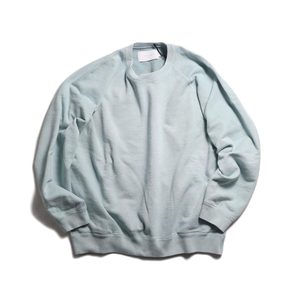 CURLY / Frosted Crew Sweat -Lt.Blue 正面