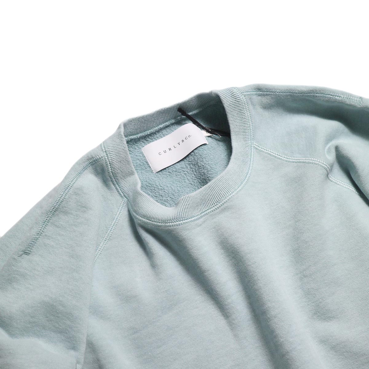 CURLY / Frosted Crew Sweat -Lt.Blue 首元
