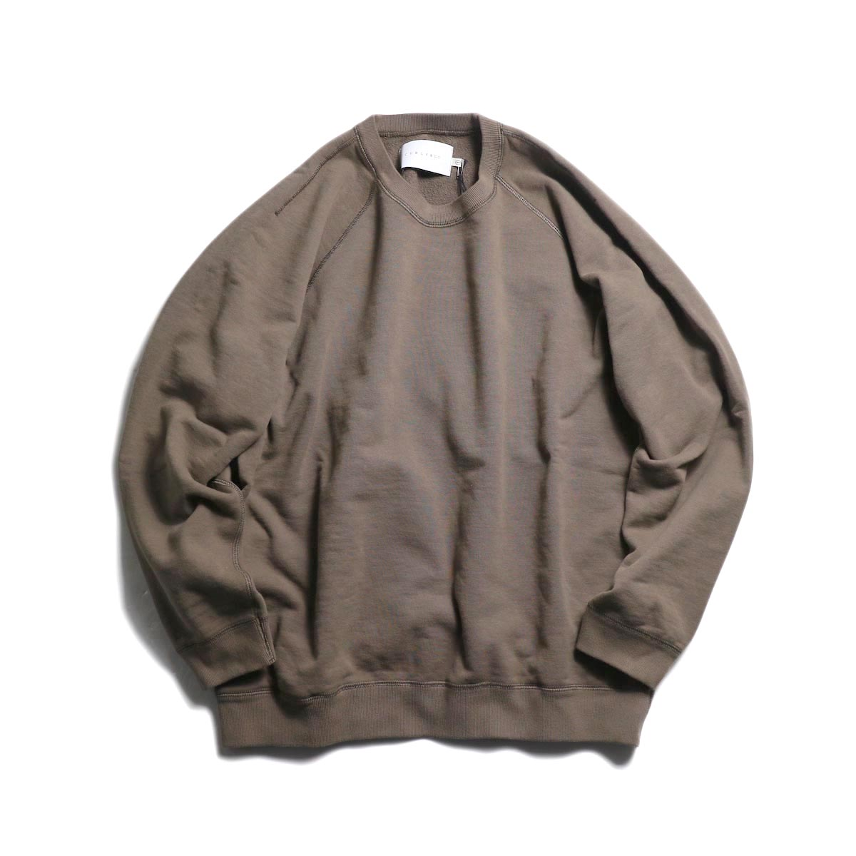 CURLY / Frosted Crew Sweat -Grage 正面