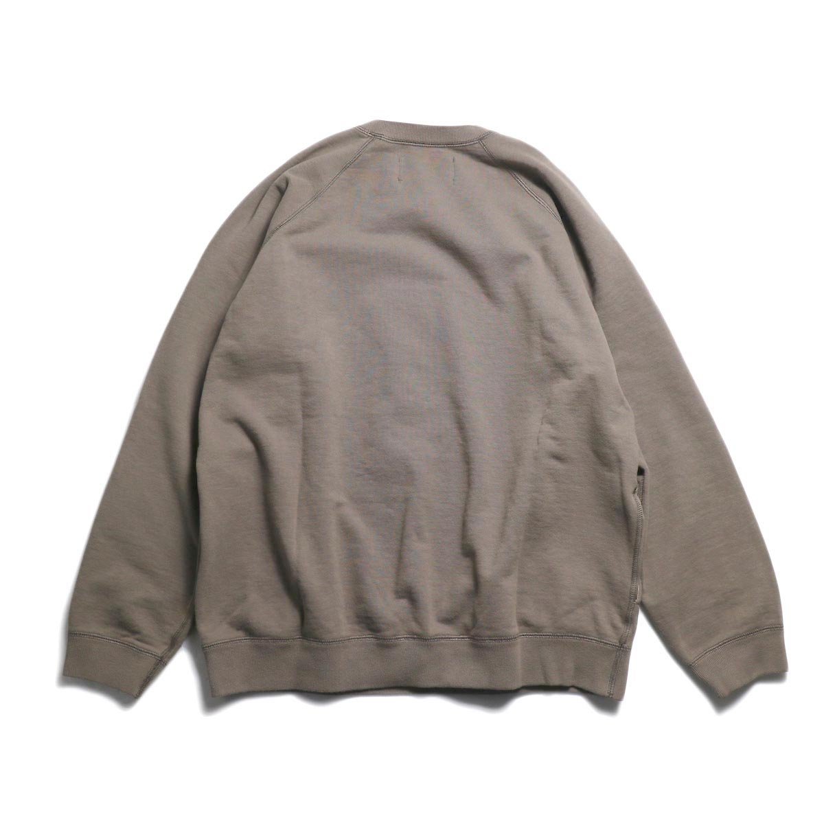 CURLY / Frosted Crew Sweat -Grage 背面