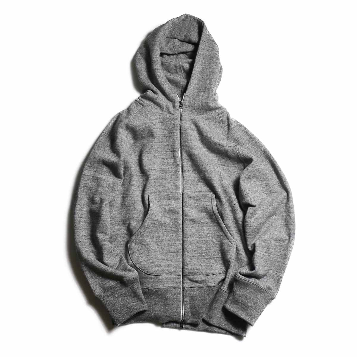 CURLY / Raffy Zip Parka -Charcoal 正面