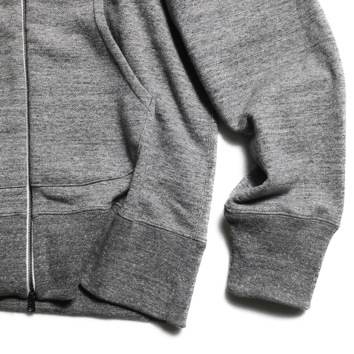 CURLY / Raffy Zip Parka -Charcoal 裾