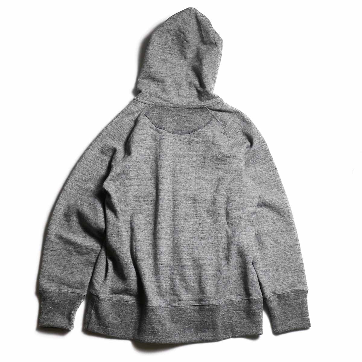CURLY / Raffy Zip Parka -Charcoal 背面