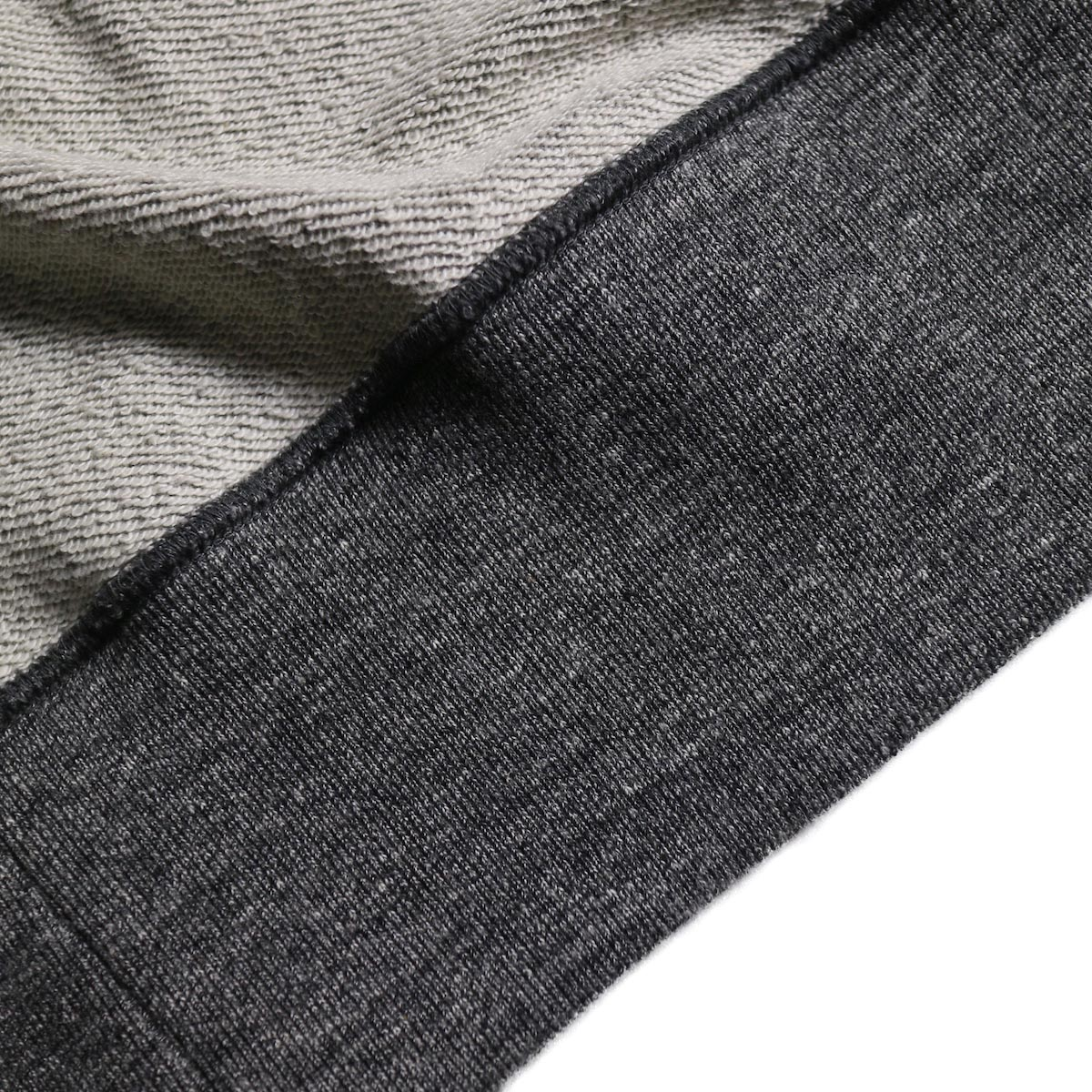 CURLY / Raffy Zip Parka -Charcoal リブ