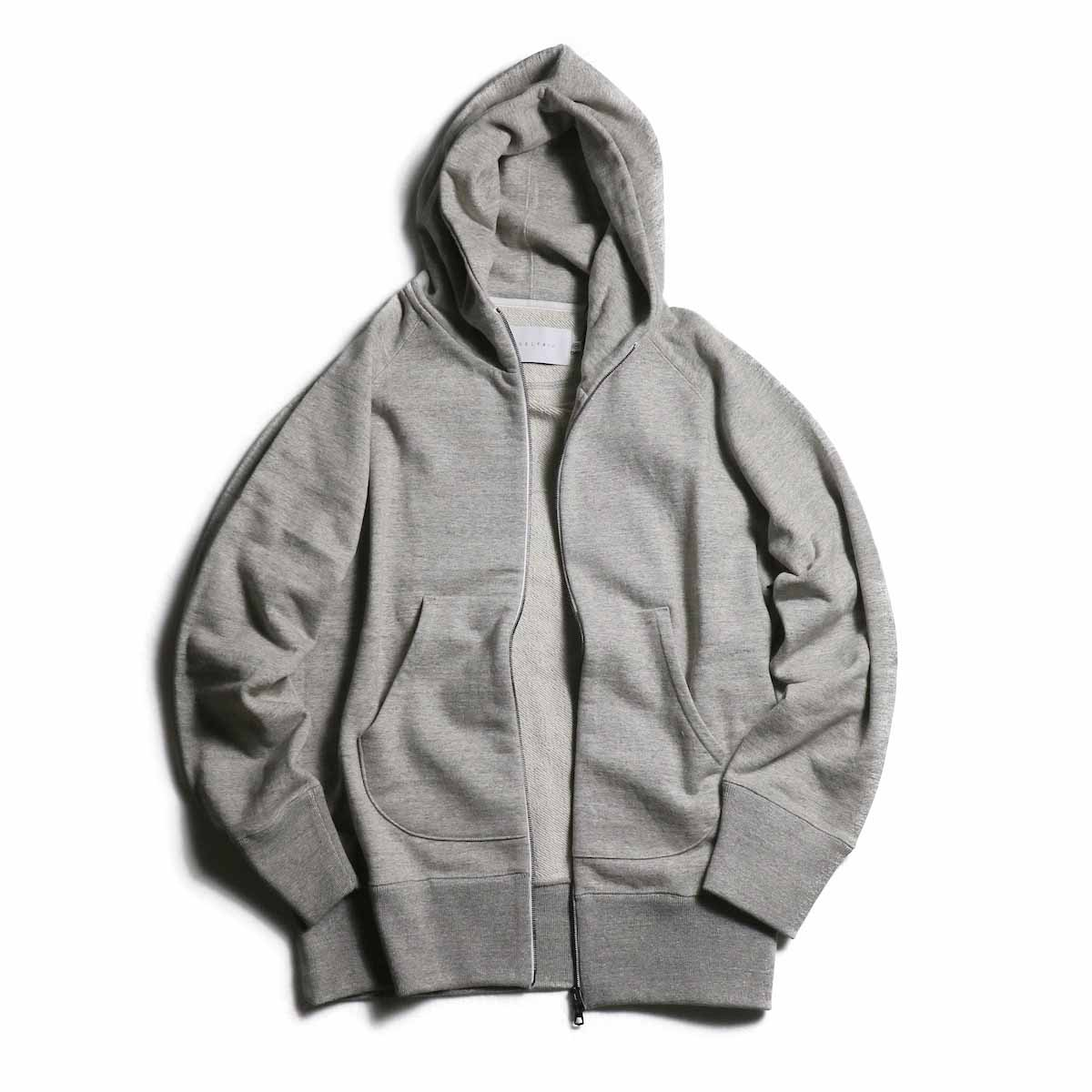 CURLY / Raffy Zip Parka -Gray 正面