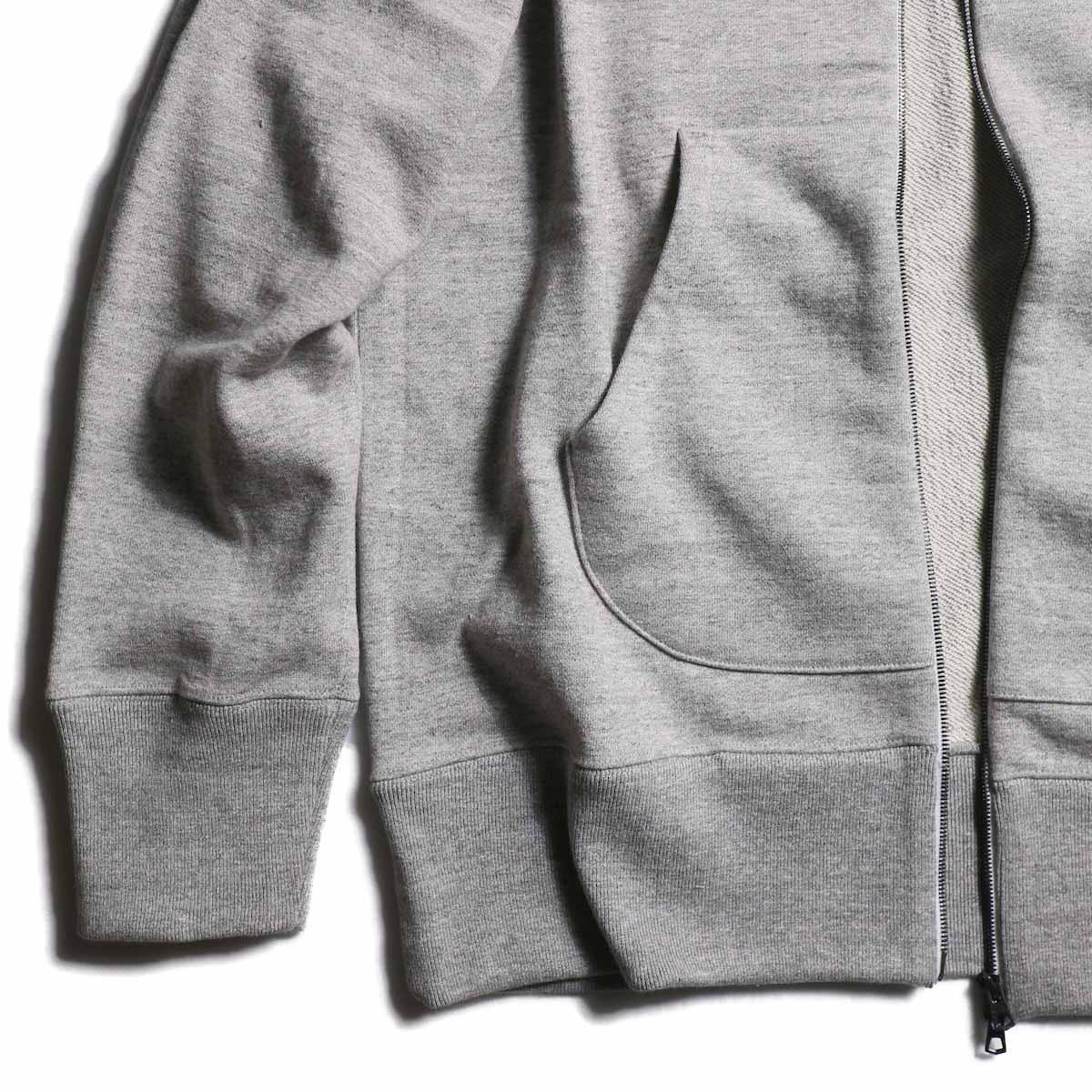 CURLY / Raffy Zip Parka -Gray 裾