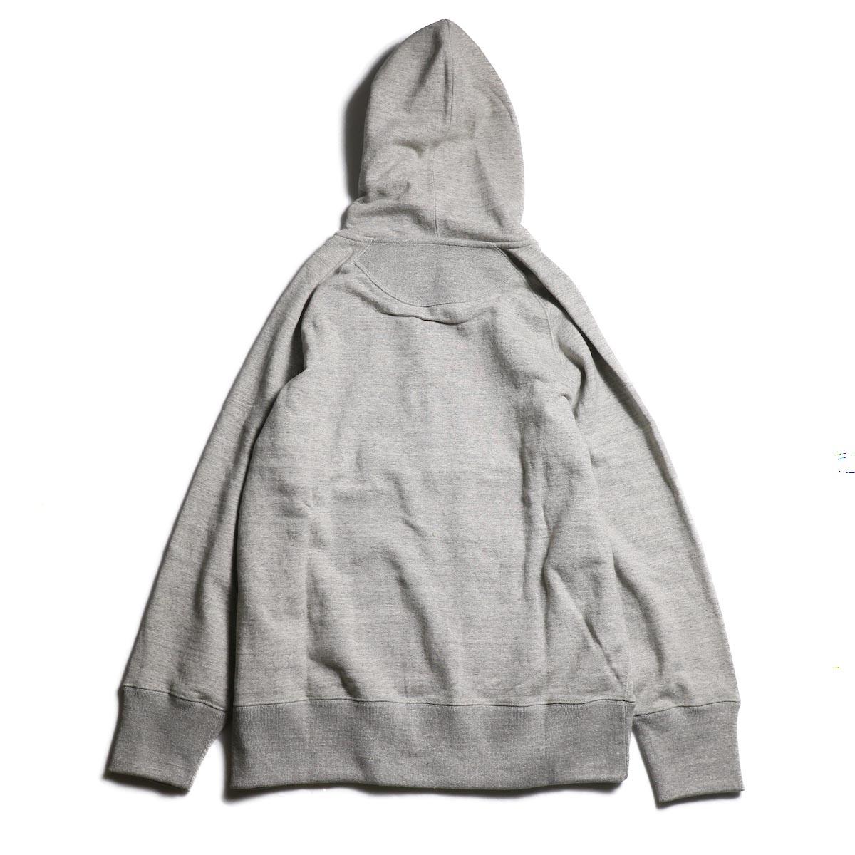 CURLY / Raffy Zip Parka -Gray 背面