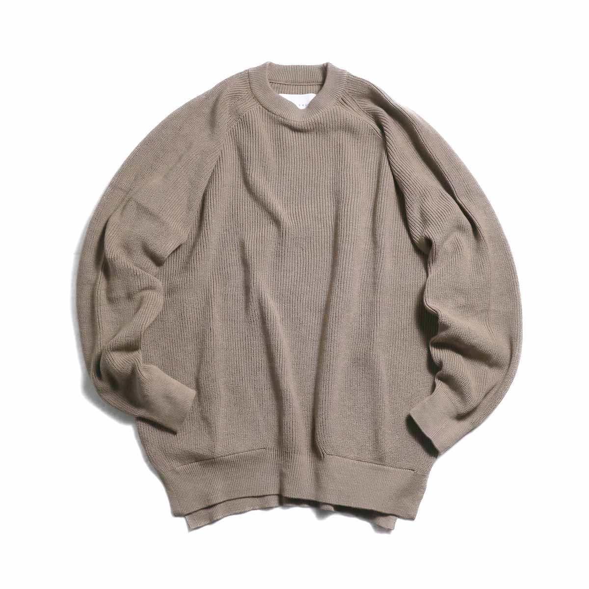 CURLY / Assembly Crew Knit -Grage