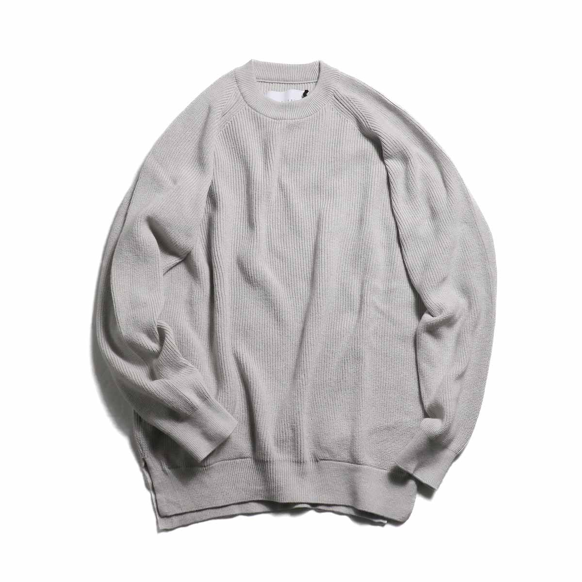 CURLY / Assembly Crew Knit -Lt Gray
