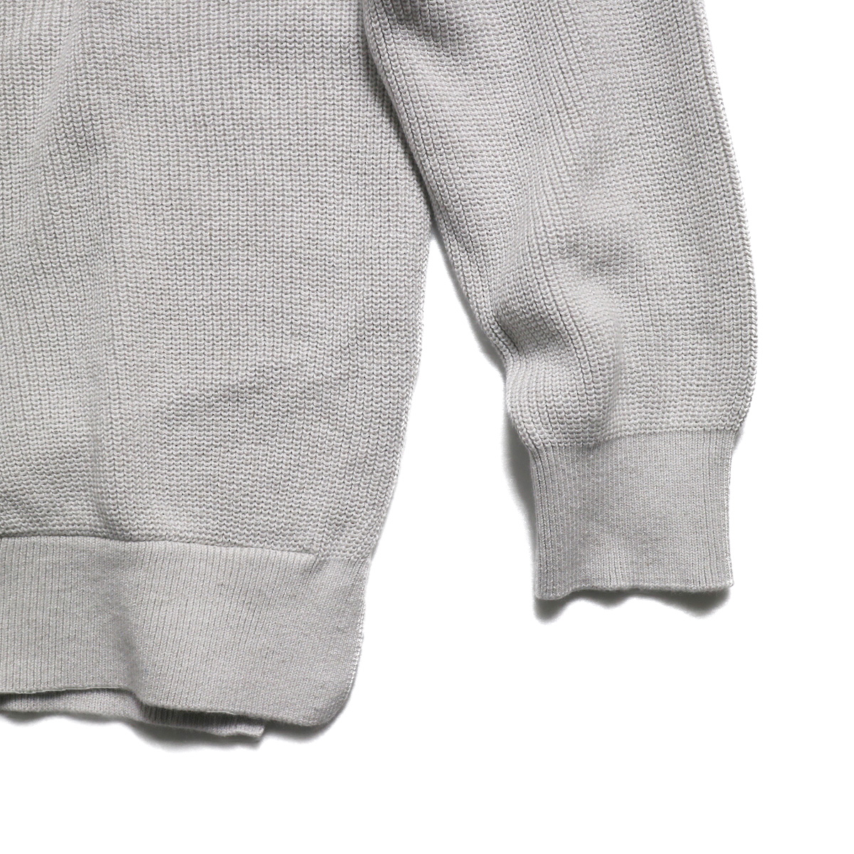 CURLY / Assembly Crew Knit -Lt Gray 裾
