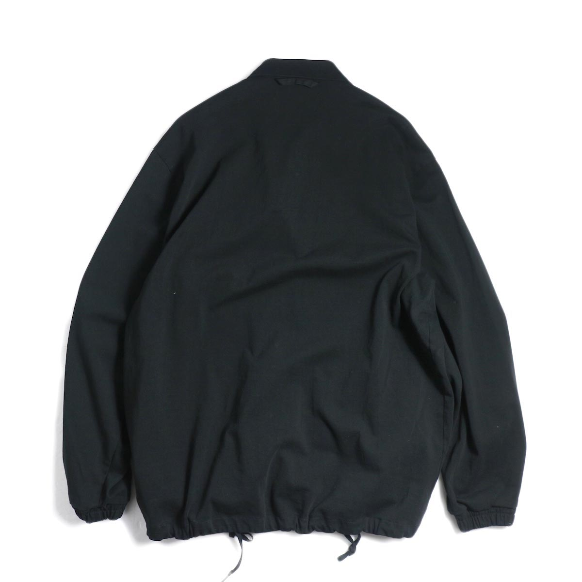 CURLY / Delight Coach Jacket -Black 背面